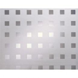 Adhésif vitrostatique - MOTIFS CARRES - Blanc - 90 cm x 150 cm