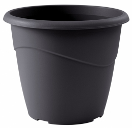 Pot à fleurs - Rond - Marina - Gris - 2 L - EDA