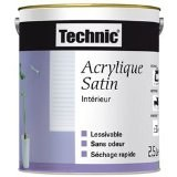 ppg retail europe - peinture acrylique satin 2.5l coquille d'oeuf