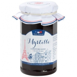 Confiture haut de gamme AND PIERAL - 50 % de fruits - Myrtille - 270 Grs - ANDRESY