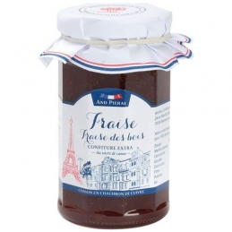 Confiture haut de gamme AND PIERAL - 50 % de fruits - Fraise / Fraise des bois - 270 Grs - ANDRESY