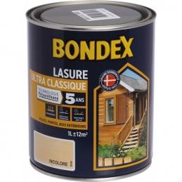 Lasure Ultra Classique - Polyuréthane - 1 L - Incolore - BONDEX