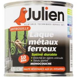 Laque métaux ferreux antirouille - Noir satiné - 250 ml - JULIEN