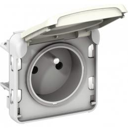 Prise de courant et volet de protection IP 55 Plexo - 2P+T - Blanc - LEGRAND