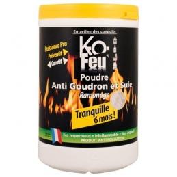 Poudre anti-goudron et suie - Ramonage - 800 Grs - KO FEU
