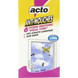 Anti mouches - Stickers vitres - x 6 - ACTO