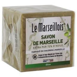 Cube de savon de marseille - Olive - 300 Grs - LE MARSEILLOIS