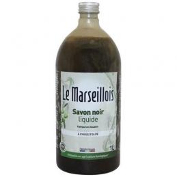Savon noir liquide à l'huile d'olive - 1 L - LE MARSEILLOIS