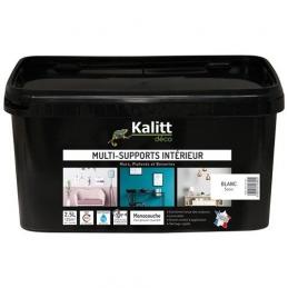 Peinture multi-supports - Intérieur - Satin - Blanc - 2.5 L - KALITT