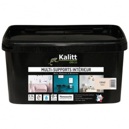 Peinture multi-supports - Intérieur - Satin - Craie - 2.5 L - KALITT