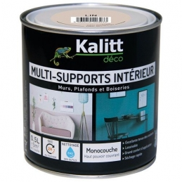 Peinture multi-supports - Intérieur - Satin - Lin - 0.5 L - KALITT
