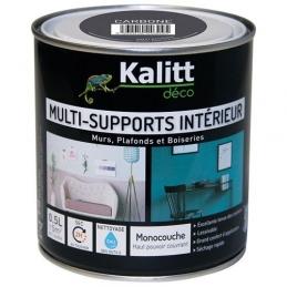 Peinture multi-supports - Intérieur - Satin - Carbone - 0.5 L - KALITT
