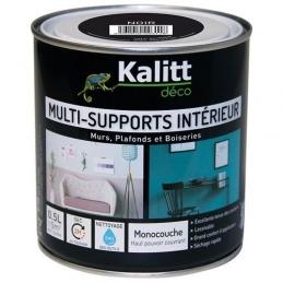 Peinture multi-supports - Intérieur - Satin - Noir - 0.5 L - KALITT