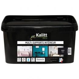 Peinture multi-supports - Intérieur - Satin - Noir - 2.5 L - KALITT
