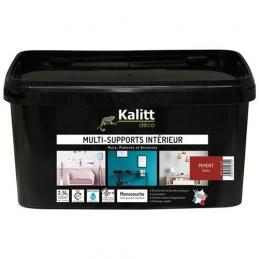 Peinture multi-supports - Intérieur - Satin - Piment - 2.5 L - KALITT