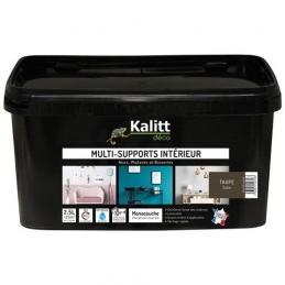 Peinture multi-supports - Intérieur - Satin - Taupe - 2.5 L - KALITT
