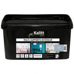 Peinture multi-supports - Intérieur - Satin - Azur - 2.5 L - KALITT