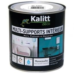 Peinture multi-supports - Intérieur - Mat - Blanc - 0.5 L - KALITT