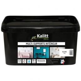 Peinture multi-supports - Intérieur - Mat - Blanc - 2.5 L - KALITT