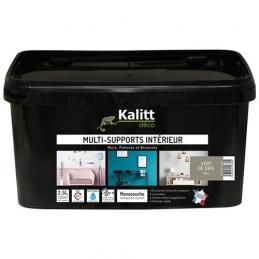 Peinture multi-supports - Intérieur - Mat - Vert de gris - 2.5 L - KALITT