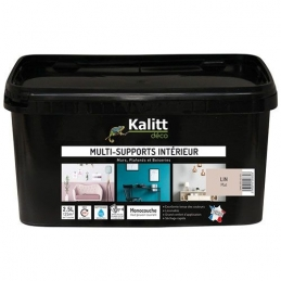 Peinture multi-supports - Intérieur - Mat - Lin - 2.5 L - KALITT