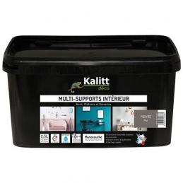 Peinture multi-supports - Intérieur - Mat - Poivre - 2.5 L - KALITT