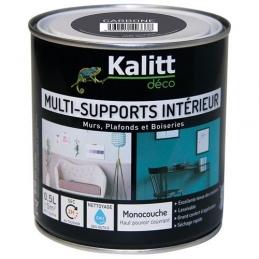 Peinture multi-supports - Intérieur - Mat - Carbone - 0.5 L - KALITT