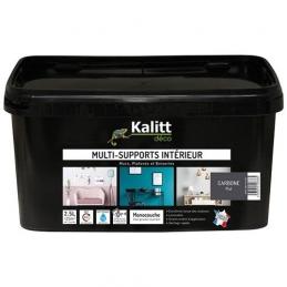 Peinture multi-supports - Intérieur - Mat - Carbonne - 2.5 L - KALITT
