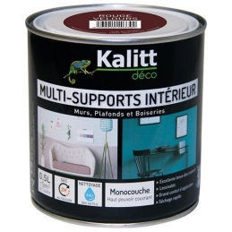 Peinture multi-supports - Intérieur - Mat - Rouge velours - 0.5 L - KALITT