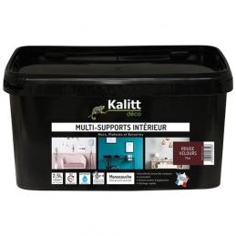 Peinture multi-supports - Intérieur - Mat - Rouge velours - 2.5 L - KALITT