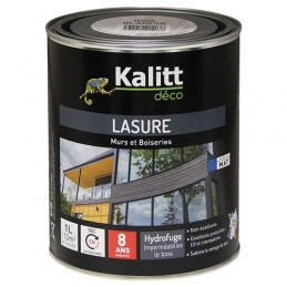 Lasures Les Modernes - Murs et boiseries - Blanc - 1 L - KALITT