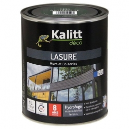 Lasures Les Modernes - Murs et boiseries - Gris anthracite - 1 L - KALITT