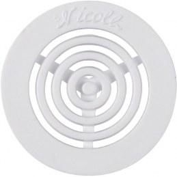 Grille d'aération contre-cloison - Diamètre 45 mm - Blanc - NICOLL