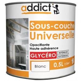 Sous-couche universelle - Opacifiante - Glycéro - Blanc - 0.5 L - ADDICT