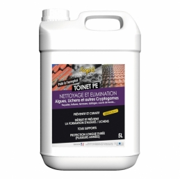 Nettoyant et traitement des toitures et facade toinet PE - 5 L - TOLEMAIL