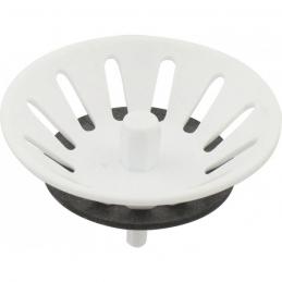 Panier manuel - Blanc - pour bonde de Ø90 mm - NEPTUNE