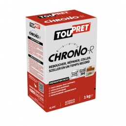 Enduit de rebouchage en poudre - Chrono-R - 1 Kg - TOUPRET