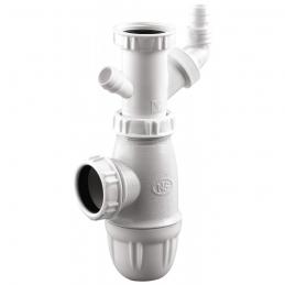 Siphon d'évier avec prise machine à laver - 40 mm - NEPTUNE