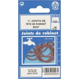 Joint en fibre pour tête de robinet - Ø23 x 27 mm - Lot de 11 - GRIPP
