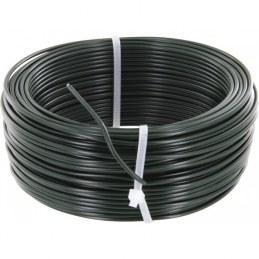 Fil de tension pour grillage - Acier galvanisé plastifié - Vert - 100 M x 2.7 mm - FILIAC