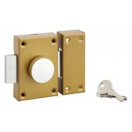 Verrou de sureté à bouton et cylindre - 40 mm - PVM