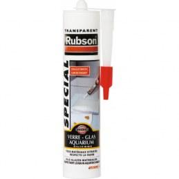 Rubson Mastic Colle Verre Aquarium 280 ml - Transparent