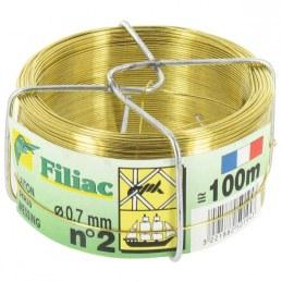 Bobinots fil attache - Laiton - 100 M - FILIAC