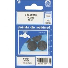 Joint Clapet plein Robinet - 18 x 7 mm - Lot de 4 - GRIPP