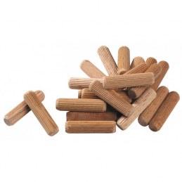 Tourillon en bois dur SCID - Dimensions 6 x 30 mm - Vendu par 100