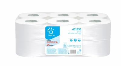 Papier Toilette Mini Jumbo, Cellulose Pure, Blanc (Pack de 12) Papernet