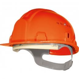 Casque de chantier avec coiffe - Orange - OUTIBAT