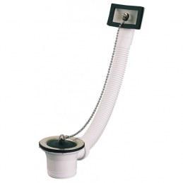 Bonde pour évier inox avec trop plein - Diamètre 50 mm - NEPTUNE