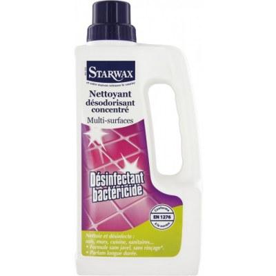 Désinfectant Bactéricide sans javel - Multi-surfaces 1L - STARWAX