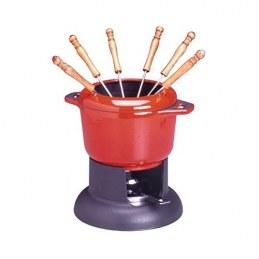 Service fondue - Rouge - INVICTA